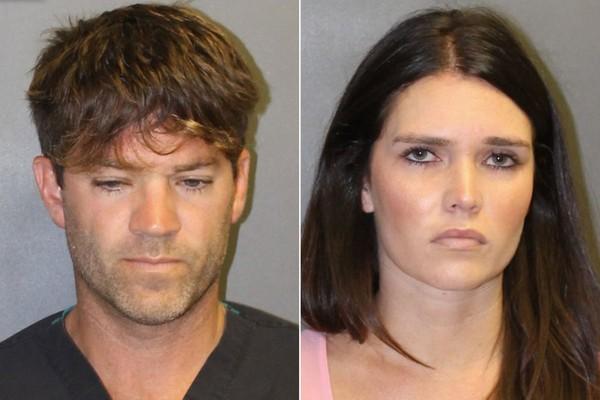 O médico Grant William Robicheaux e sua namorada Cerissa Laura Riley em fotos feitas pelas autoridades dos EUA (Foto: Divulgação)