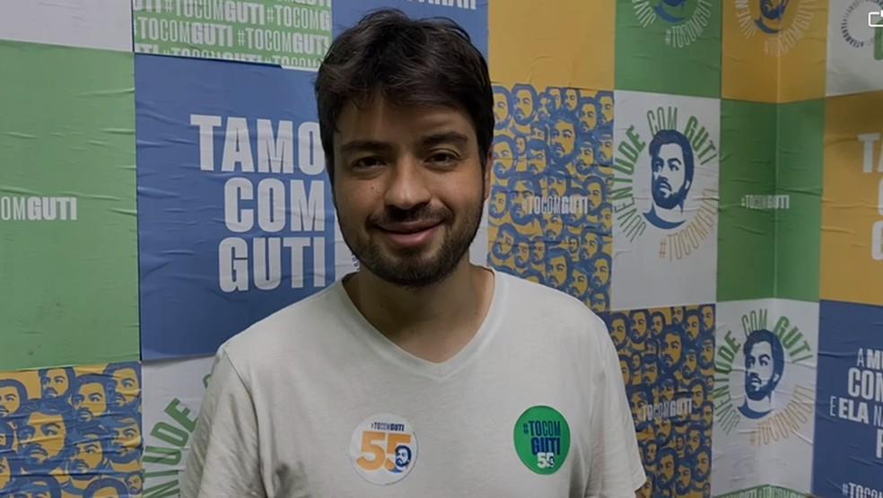 Guti, do PSD, é reeleito prefeito de Guarulhos, na Grande São Paulo.  — Foto: Divulgação
