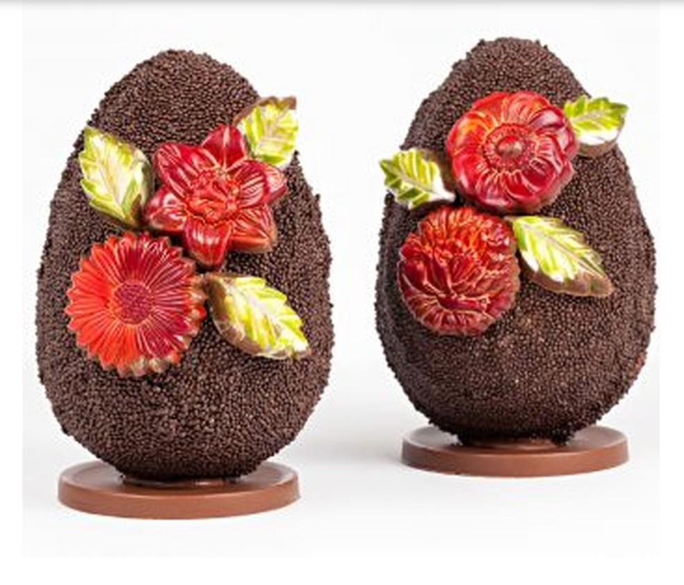 Ovos decorados para a Páscoa — Foto: Reprodução