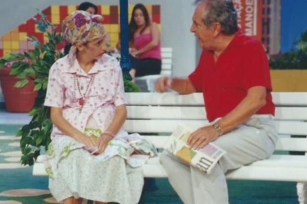 Gorete como Dona Filó no A Praça é Nossa (Foto: Reprodução/SBT)