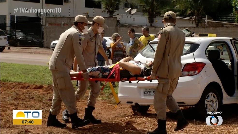 Entre janeiro e agosto, 30 pessoas morreram vítimas de acidente de trânsito em Palmas — Foto: Reprodução/TV Anhanguera