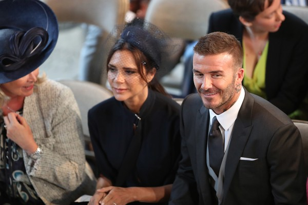 David e Victoria Beckham no casamento do Príncipe Harry com a atriz Meghan Markle (Foto: Getty Images)