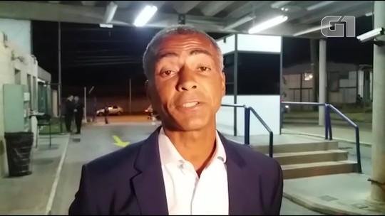 Romário, do Podemos, chega para o debate da TV Globo