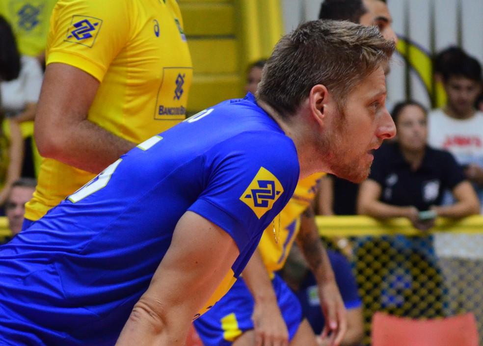 Murilo estreou como líbero da seleção nessa quinta-feira, 17 (Foto: Danilo Sardinha/GloboEsporte.com)