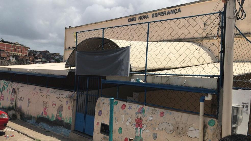 Centro Municipal de Educação Infantil Nova Esperança, também no bairro da Federação  — Foto: Alan Tiago Alves/G1