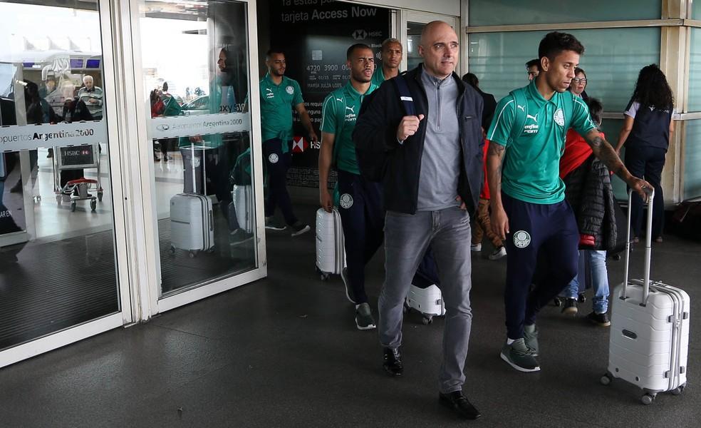Desembarque do Palmeiras em Buenos Aires, Argentina — Foto: Divulgação/Palmeiras