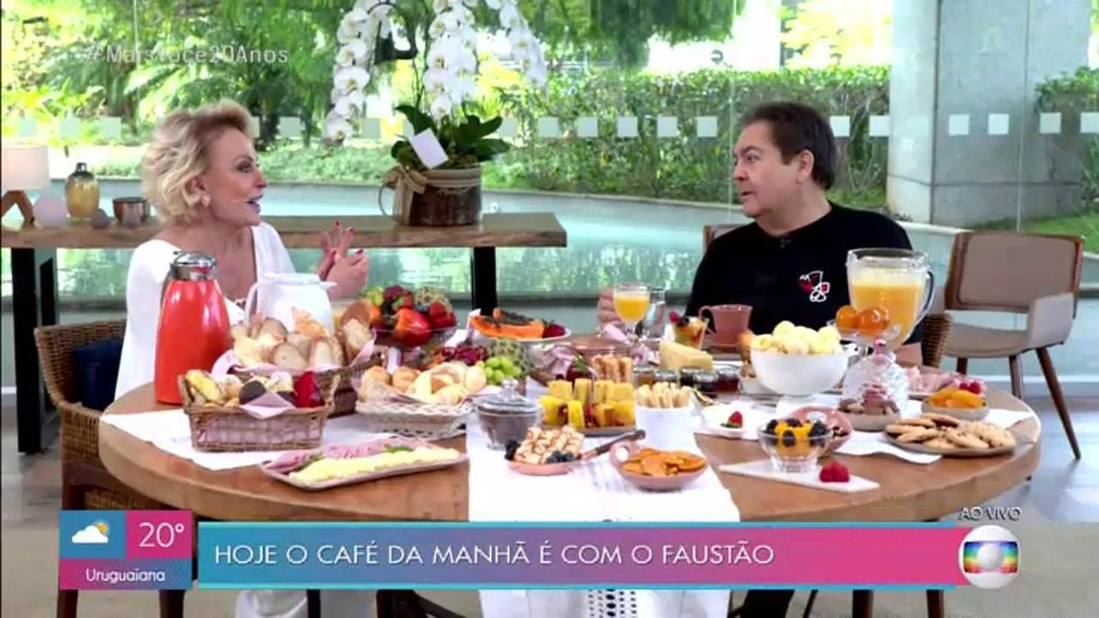Ana Maria comemora 20 anos do 'Mais Você' com programa especial e entrevista com Faustão - Notícias - Plantão Diário