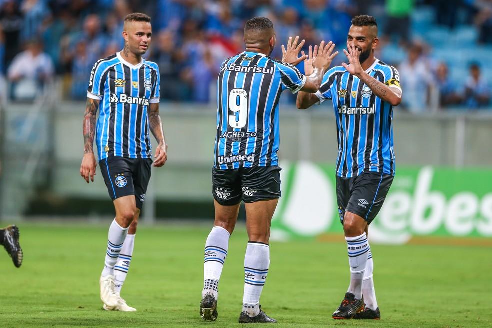 Jael e Maicon foram os destaques do Grêmio — Foto: Lucas Uebel / Grêmio / Divulgação