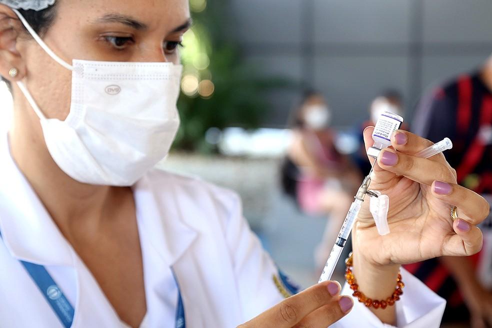 Vacina contra a Covid-19; Aracaju — Foto: Divulgação/André Moreira/Aracaju/Arquivo