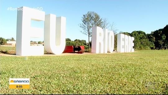 Parque inaugurado há um ano é alvo de vandalismo, em Rio Verde