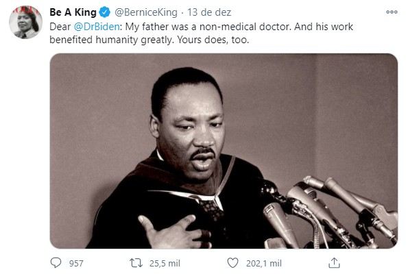 Bernice King (Foto: Reprodução / Twitter @berninceking)