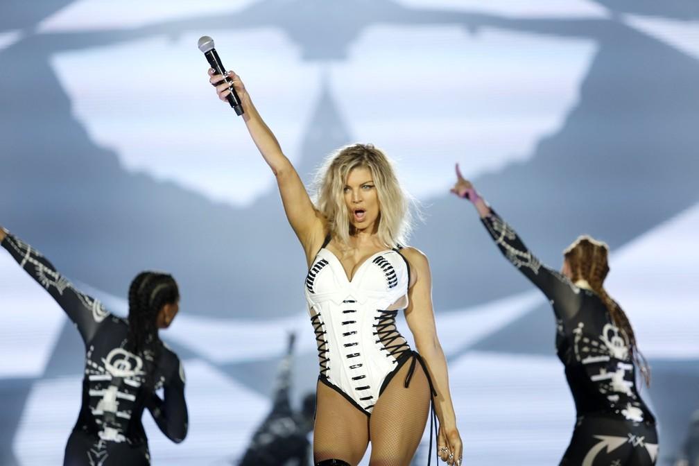 -  Fergie começa sua apresentação no Rock in Rio 2017  Foto: Marcos Serra Lima/G1