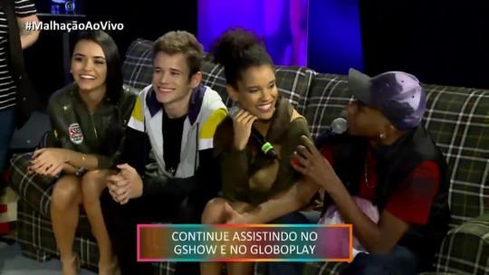 Heslaine Vieira e Lucas Penteado repercutem beijo de Fillen