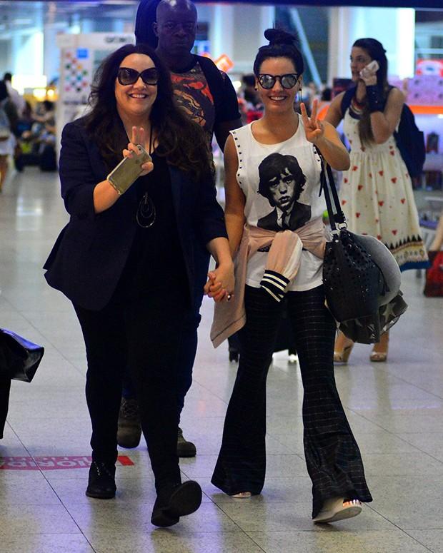 Ana Carolina e Letícia Lima (Foto: William Oda/ AgNews)