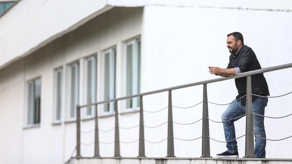 Mário Bittencourt completou dois anos de gestão à frente do Fluminense — Foto: Lucas Merçon / Fluminense FC