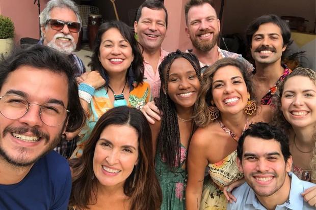 Fátima Bernades e amigos (Foto: Reprodução)