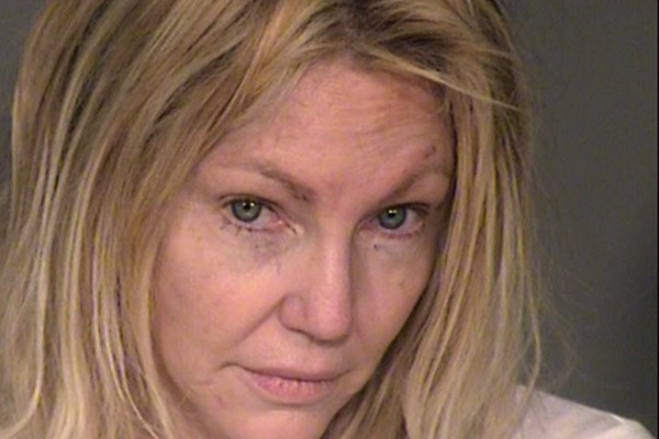 A foto da atriz Heather Locklear feita pelo Departamento de Polícia de Ventura County (Foto: Getty Images)