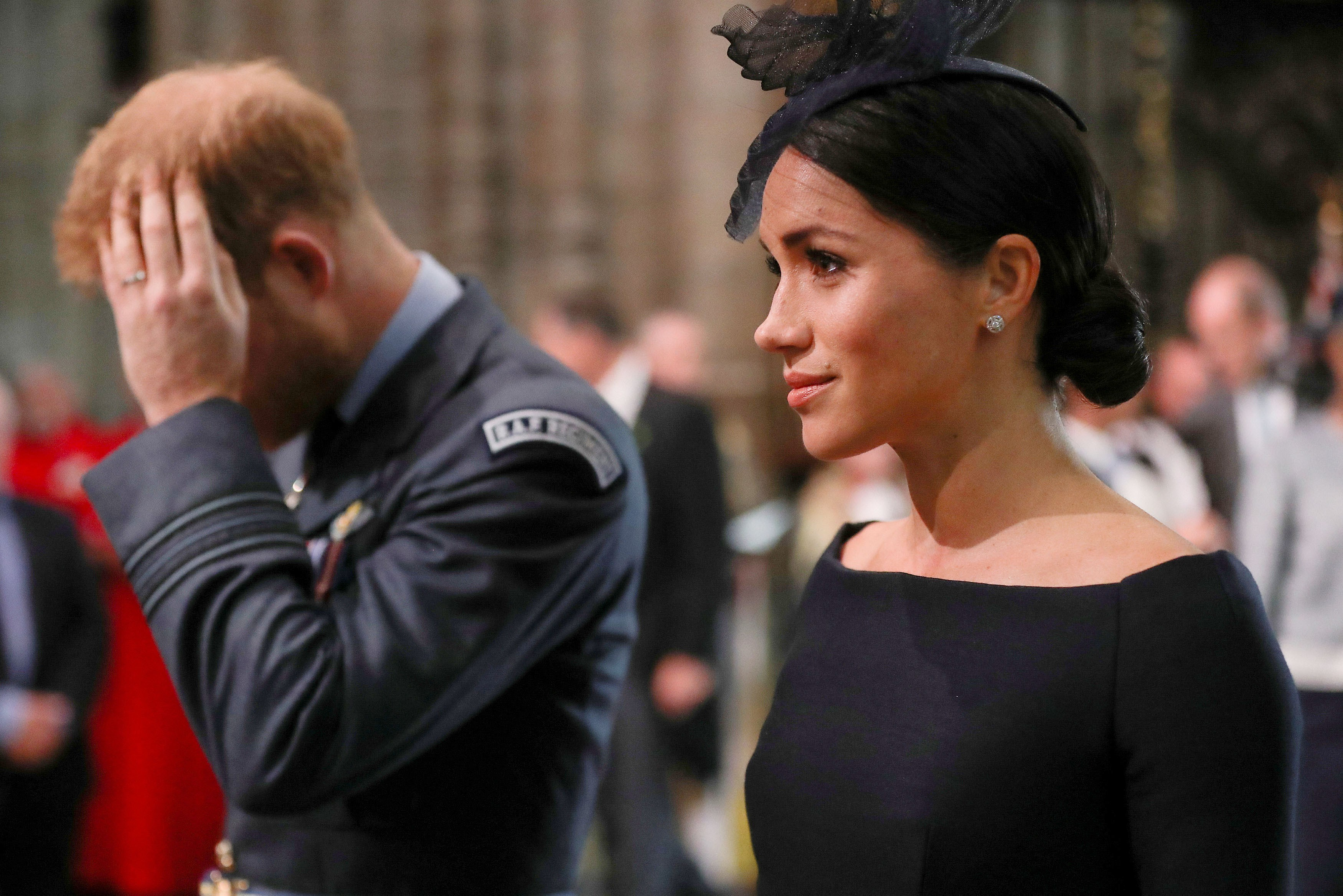 A ex-atriz e duquesa Meghan Markle na companhia do Príncipe Harry (Foto: Getty Images)