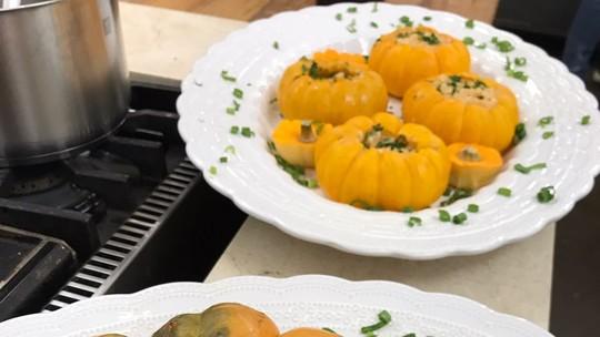 Frango na Moranga do Chef Roberto Ravioli