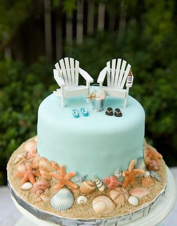 Topo de bolo de casamento: Casamento temático (Foto: Pinterest/Reprodução)