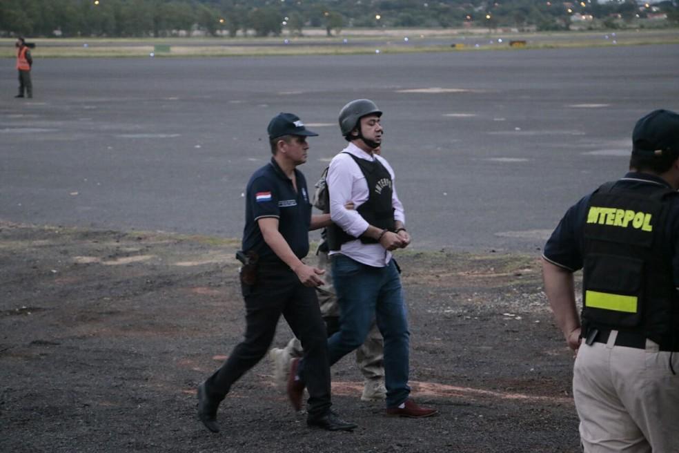 Jarvis Pavão é extraditado do Paraguai para o Brasil (Foto: Secretaria Nacional de Políticas sobre Drogas/Divulgação)