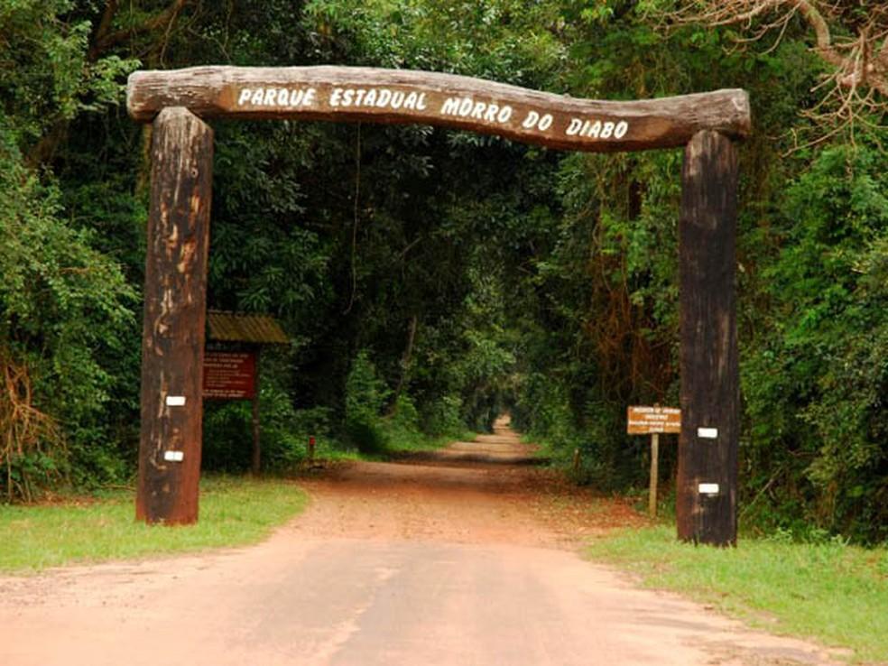 Morro do Diabo fica localizado em Teodoro Sampaio — Foto: Prefeitura de Teodoro Sampaio/Divulgação