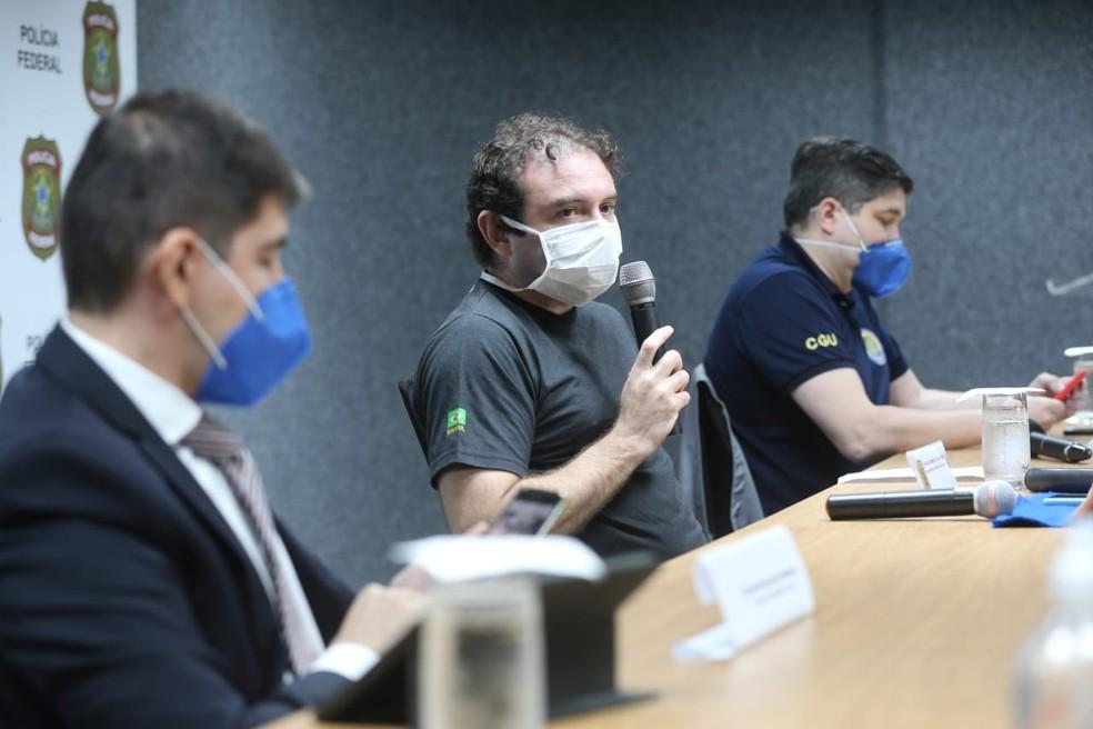 Operação da Polícia Federal investiga desvio de R$ 25 milhões na compra de respiradores pela prefeitura de Fortaleza. — Foto: Fabiane de Paula/ SVM