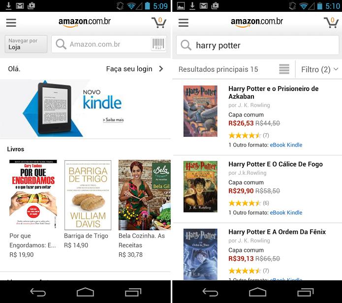 Agora você pode comprar na Amazon do Brasil com este app (Foto: Divulgação)