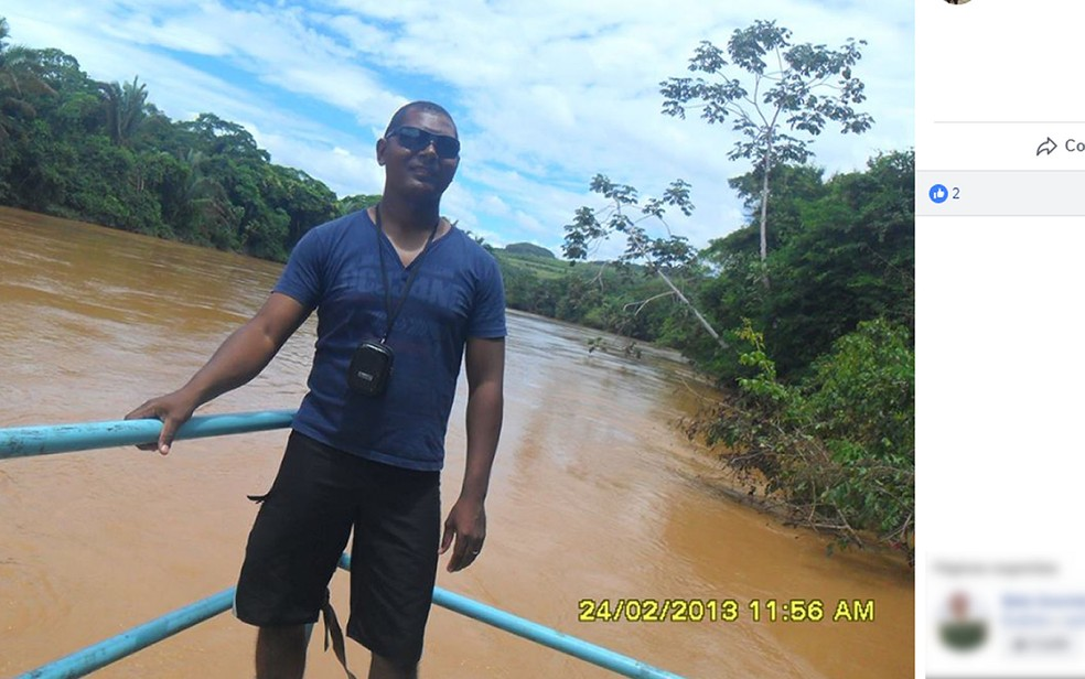 Marcelo Gonçalves da Silva foi baleado pela mulher dele — Foto: Facebook/Reprodução