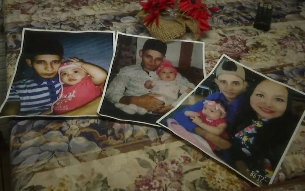 Óscar Alberto Martínez Ramírez, a mulher Tania Vanessa Ávalos e a filha do casal, Valeria, em fotos retiradas de redes sociais  — Foto: AP