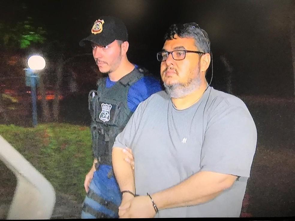 Vice-prefeito de Novo Acordo, Leto Moura Leitão Filho (PRB), foi preso — Foto: Reprodução/TV Anhanguera