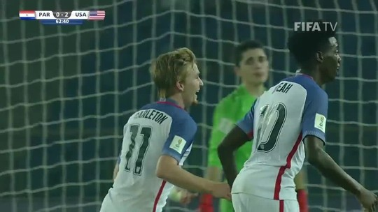 Com hat-trick de filho de Weah, EUA goleiam o Paraguai e vão às quartas