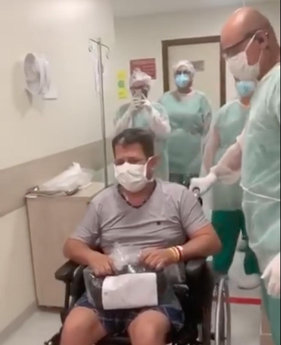 Joelson Bezerra ficou 12 dias em coma na UTI em hospital de Natal — Foto: Reprodução