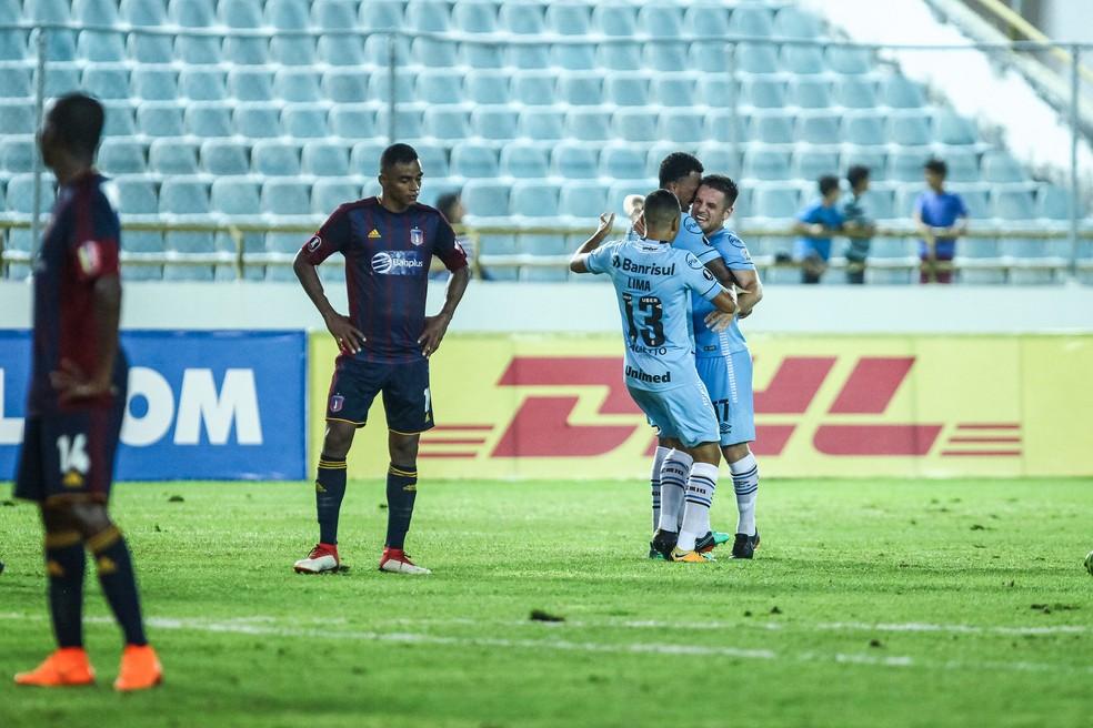 Ramiro marca contra o Monagas  (Foto: Lucas Uebel / Grêmio, DVG)