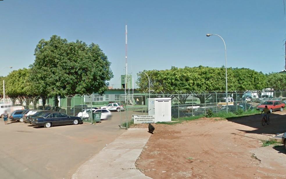 Fachada da 19ª DP, no Setor P Norte de Ceilândia — Foto: Google/Reprodução