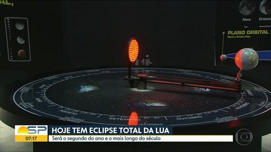 Eclipse lunar: astrônomo lista melhores lugares para assistir ao fenômeno em Campinas