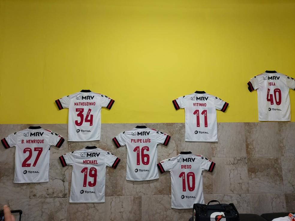 Flamengo fez homenagem aos jogadores que não jogaram partida da Libertadores por conta da Covid-19 — Foto: Divulgação / Flamengo