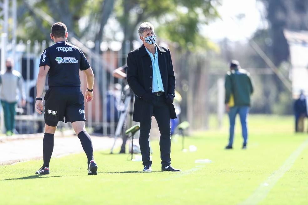 Renato comanda o Grêmio em empate — Foto: Lucas Uebel/Divulgação Grêmio