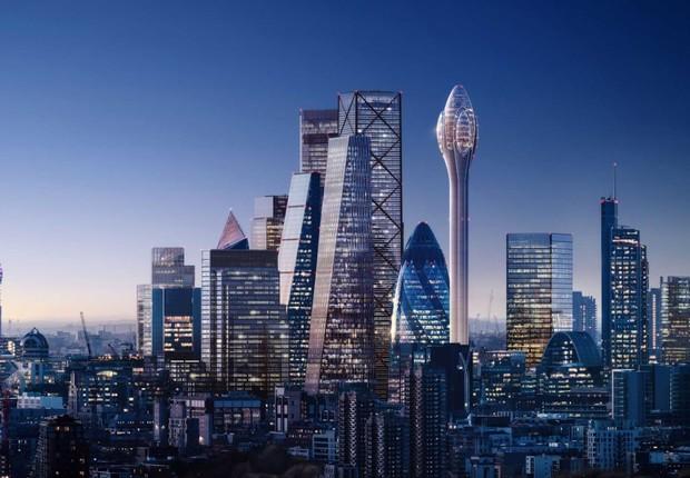 Arranha-céu vai permitir que visitantes vejam Londres a mais de 300 metros de altura (Foto: Divulgação/Foster + Partners)