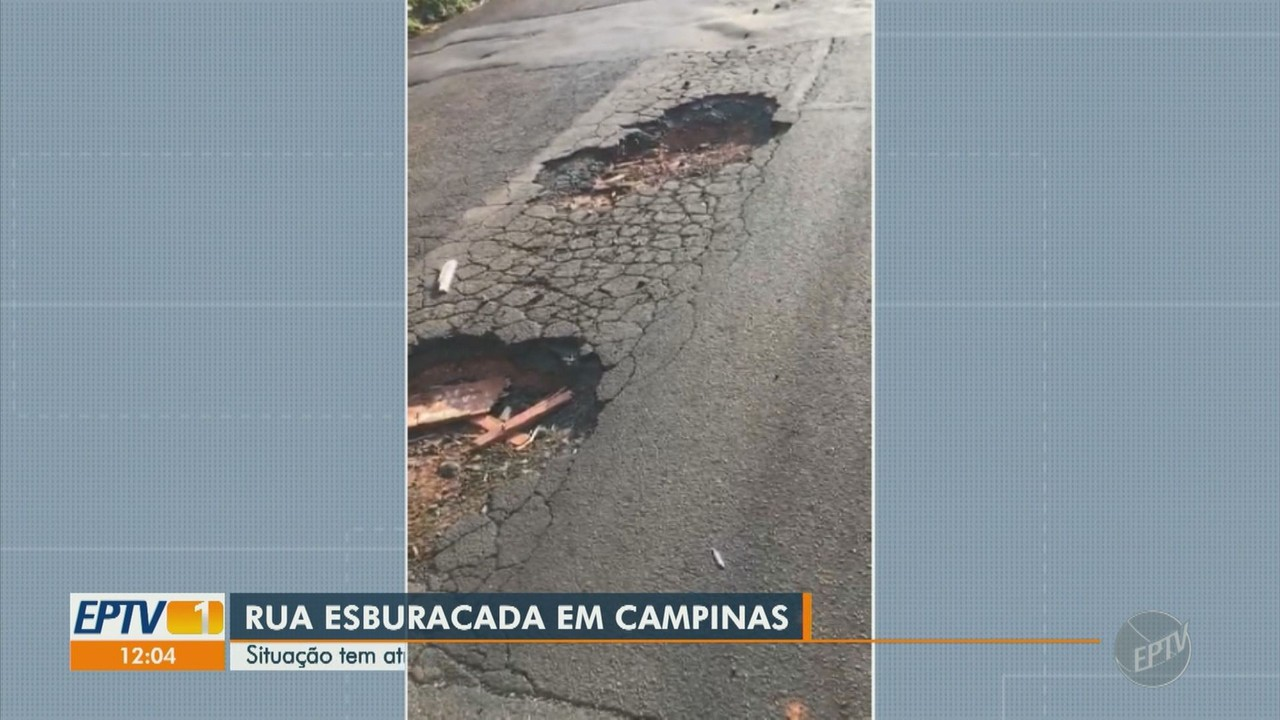 Rua esburacada é recapeada após causar transtorno a moradores de Campinas