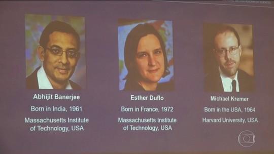 Nobel de Economia premia trio por iniciativa para aliviar pobreza global