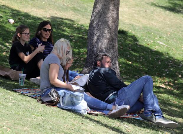 Ben Affleck e Jennifer Garner (Foto: Grosby Group)