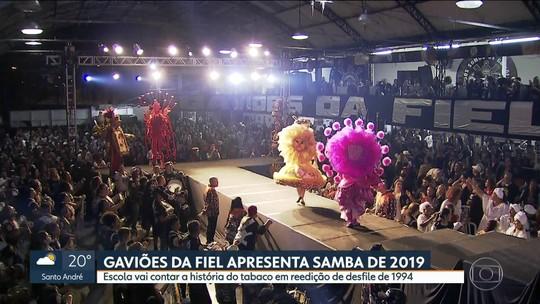 Gaviões da Fiel apresenta reedição de samba de 1994 para o carnaval de 2019