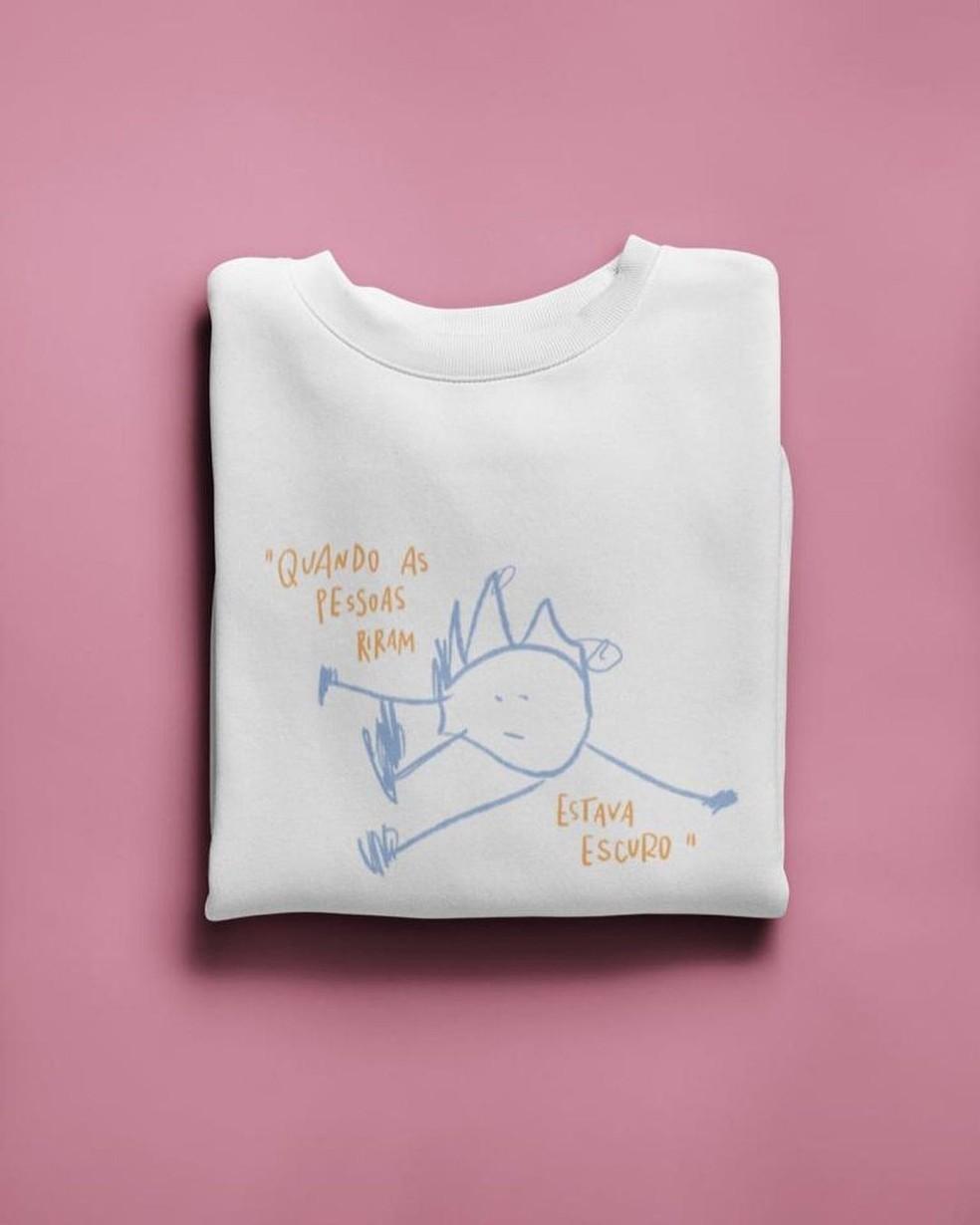 Morgana teve a ideia de fazer uma camiseta com uma frase da Alice — Foto: Reprodução/Instagram