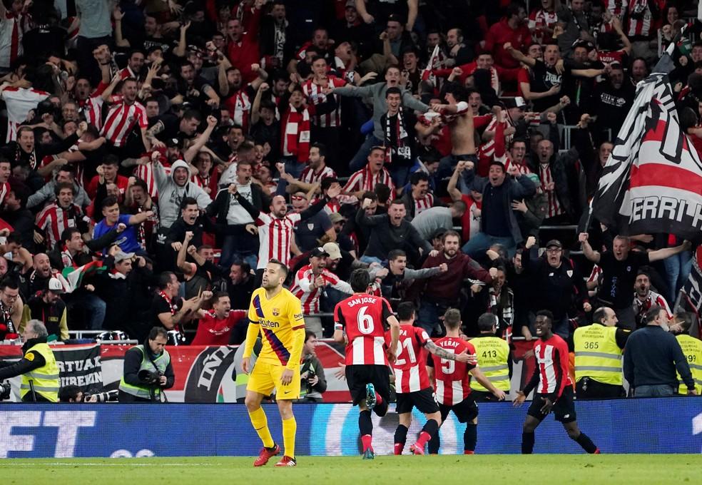 Barcelona é eliminado da Copa do Rei pelo Athletic Bilbao — Foto:  REUTERS/Vincent West