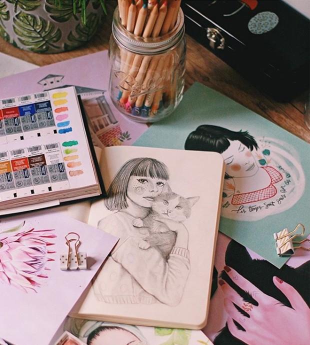 Ilustrações por Débora Islas (Foto: Instagram/ Reprodução)