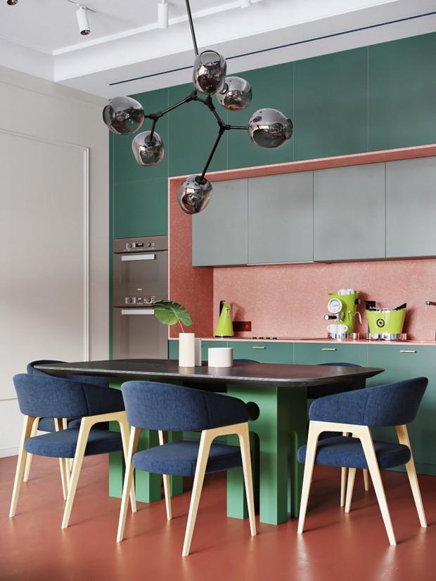 Décor do dia: cores integram sala de jantar e cozinha (Foto: Divulgação)