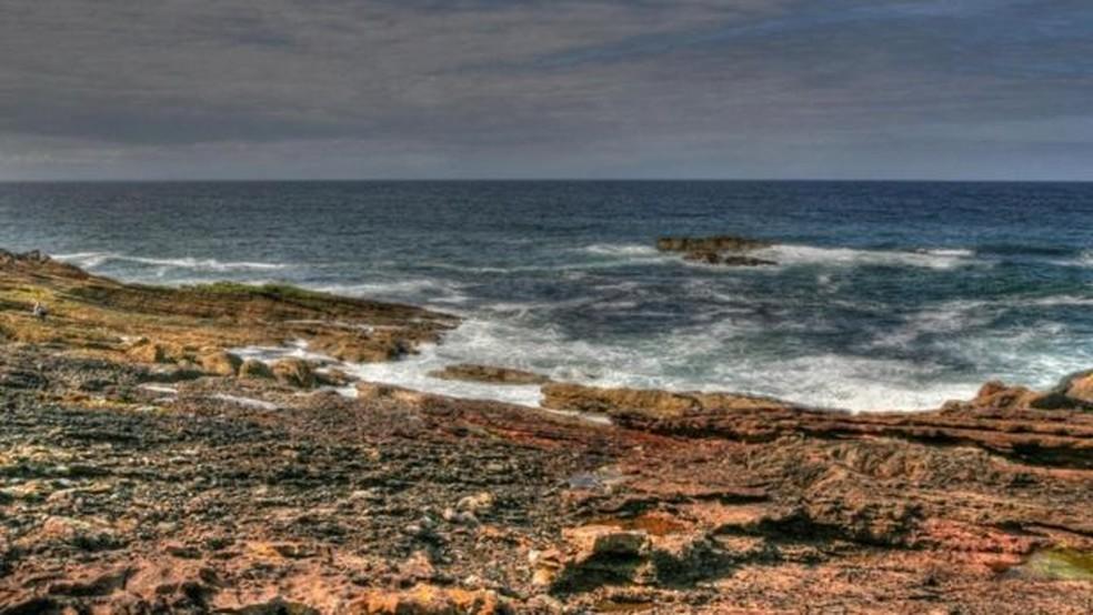 O arenito no local foi formado 65 milhões de anos após a formação da grauvaque, o que deu a Hutton a desconformidade que ele precisava (Foto: John Van Hoesen)