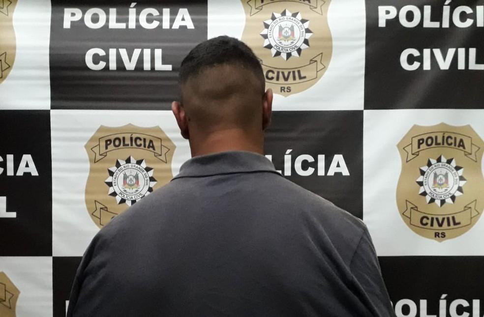 Homem confessou o crime à polícia. — Foto: Polícia Civil/Divulgação