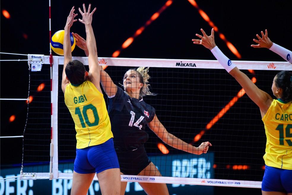 Brasil bateu o Canadá na estreia da Liga das Nações de vôlei — Foto: Divulgação/FIVB